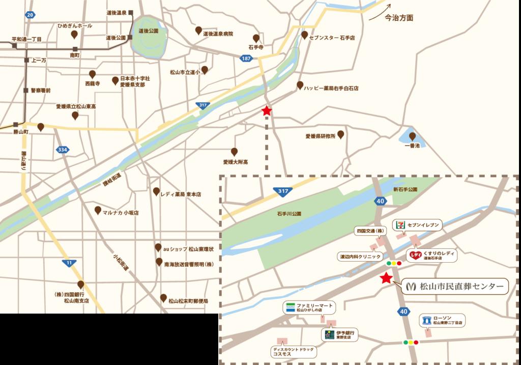 松山市民直葬センター所在地の地図