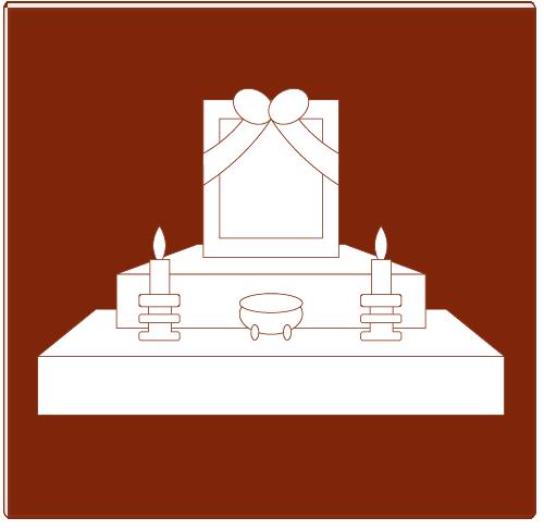 松山市民直葬センターのプランに含まれる商品|祭壇