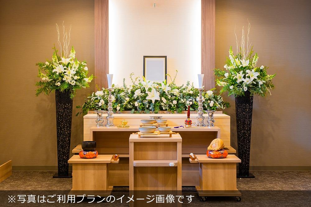 アンケート|家族葬プランご利用の場合の祭壇イメージ写真